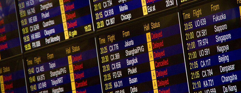 pantallas de vuelos