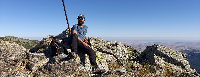 Edu Lalanda en la cima del Montón de Trigo