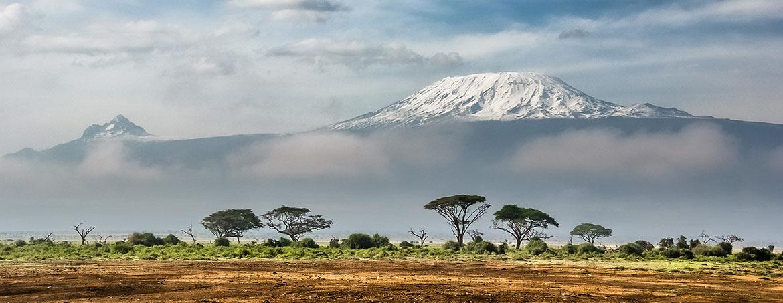 Vista del Kilimanjaro nevado