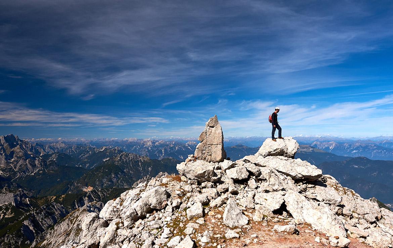 cima en los alpes julianos