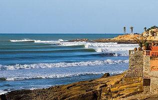 Una de las mejores olas del sur de Marruecos, Anchor Point