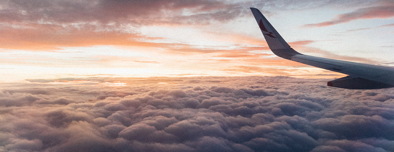 mar de nubes desde un avión