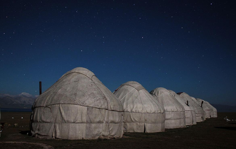 Campamento de Yurtas en Kirguistán