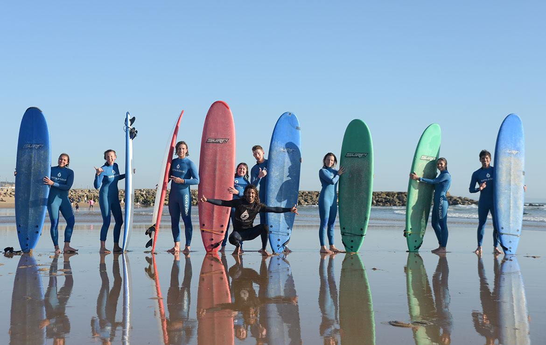 clase de surf en costa da caparica