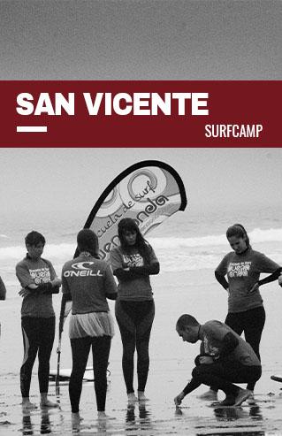 Grupo en una clase de surf
