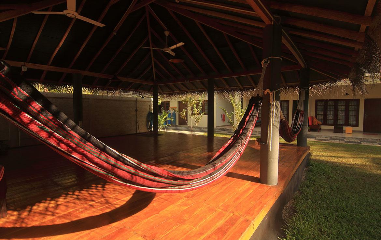 Our Yoga Shala at the surfcamp at Sri Lanka