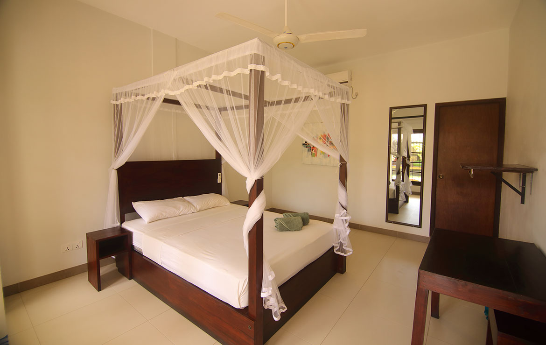 Fan room in our surfcamp at Sri Lanka